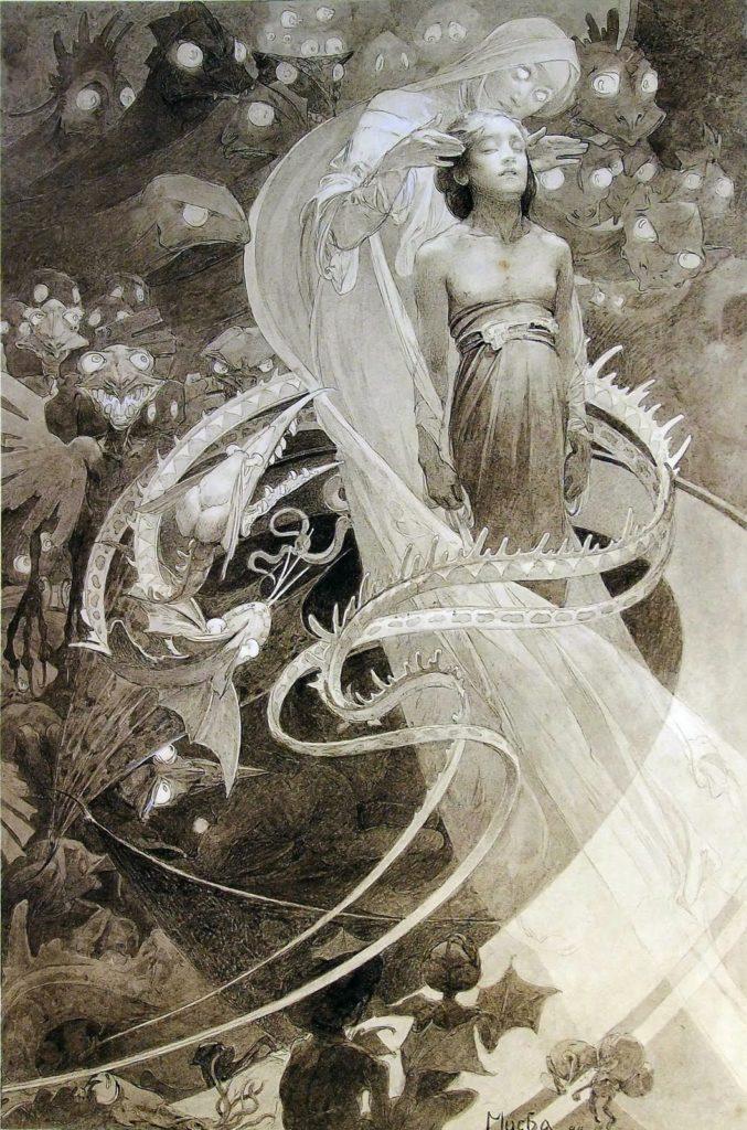Le Pater: no nos dejes caer en la tentación y libramos del mal (1899)